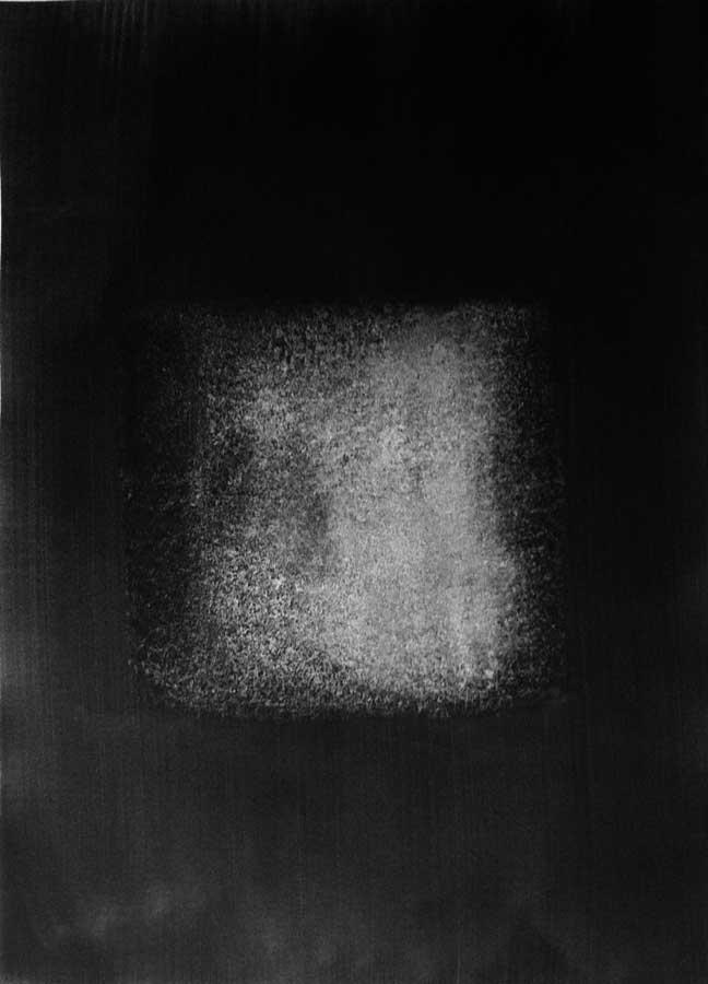 Apparition, graphite sur papier, ht 77 x 56 cm