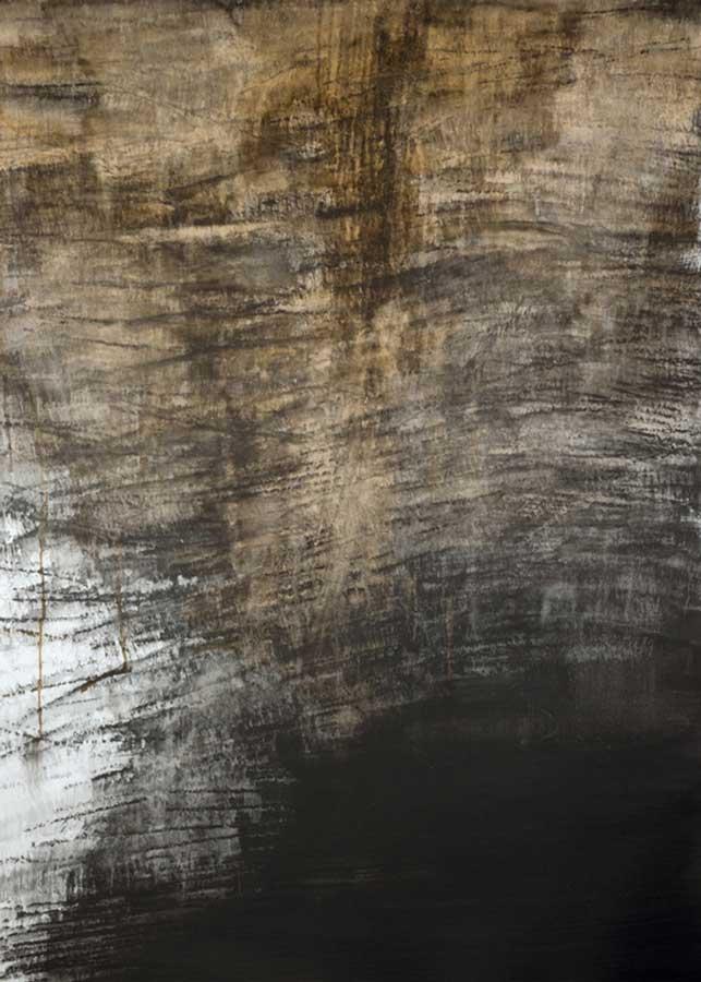 Grande falaise, graphite et encre sur papier, ht 114 x 84 cm