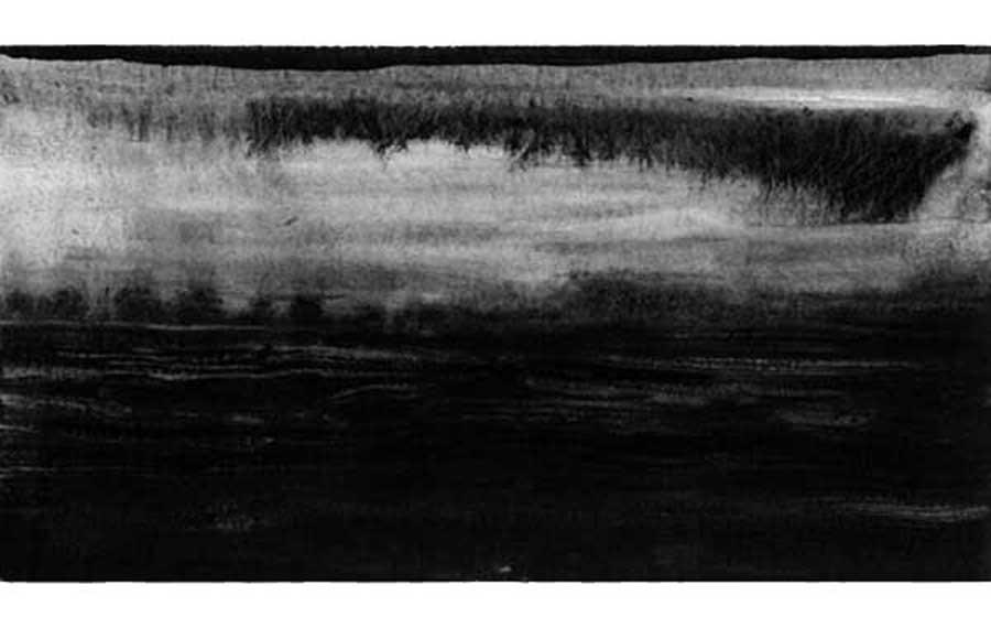 Crépuscule, graphite sur papier
