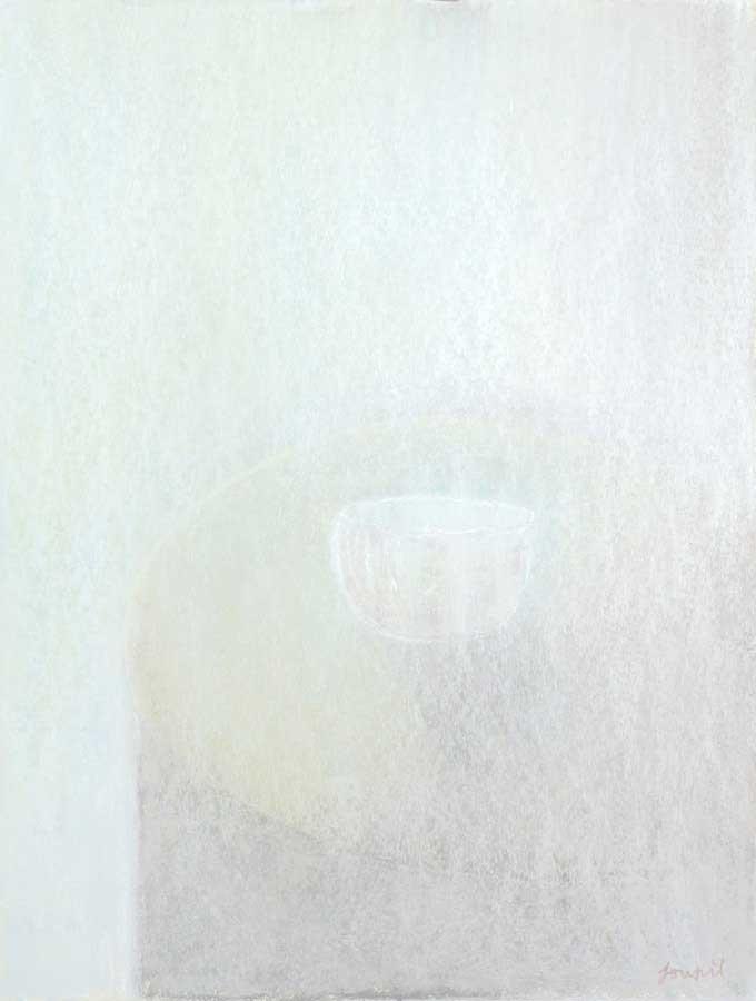 Offrande, pastel sur papier, ht 65 x 45 cm