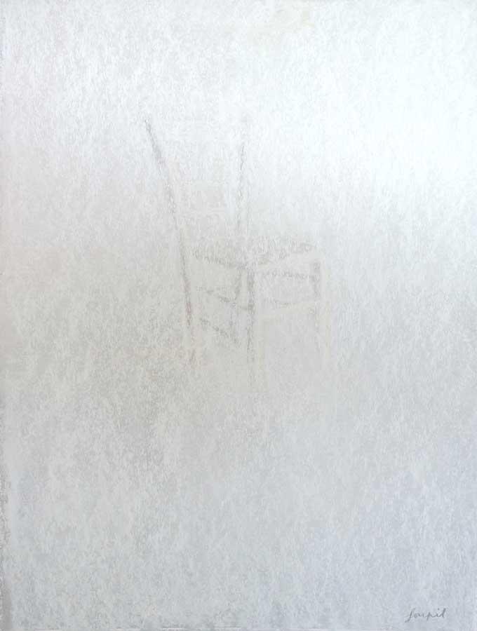 Recueillement, pastel sur papier, ht 65 x 45 cm
